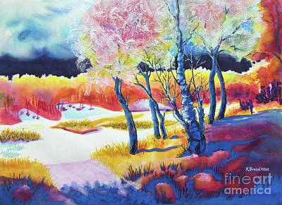 Autumn Scenes Mixed Media - The Storm Comes 2 by Kathy Braud