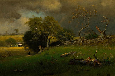 George The Painter Painting - The Storm by George Inness