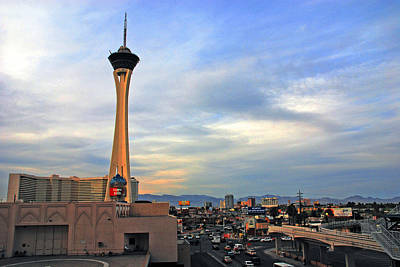 The Stratosphere In Las Vegas Print by Susanne Van Hulst