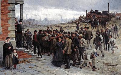 Painting - The Strike In The Region Of Charleroi by Robert Koehler