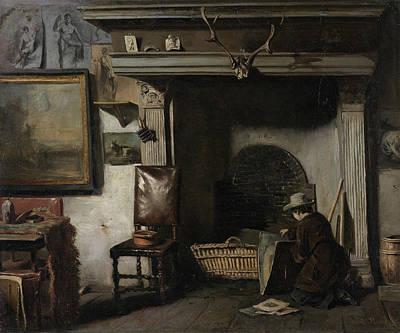 Chair Painting - The Studio Of The Haarlem Painter Pieter Frederik Van Os by Anton Mauve