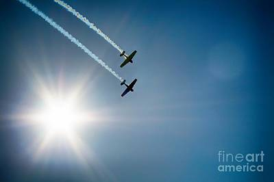 Usaf Painting - The Sun And Birds  by Celestial Images