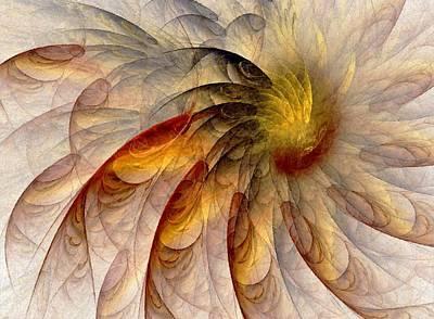 Digital Sunflower Digital Art - The Sun Do Move - Remembering Langston Hughes by NirvanaBlues