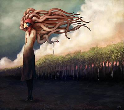 Ground Digital Art - The Sundered by Ethan Harris