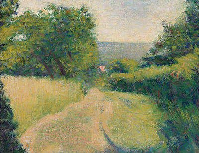 Country Lanes Painting - The Sunken Lane by Georges Pierre Seurat