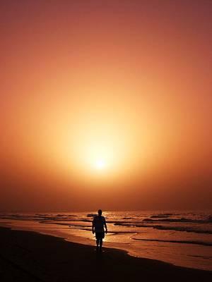 The Sunset Walk Original by Sunaina Serna Ahluwalia