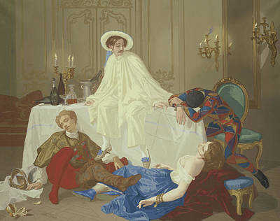 The Supper After The Masked Ball Print by Thomas Couture