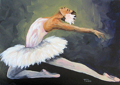 Swan Lake Ballet Painting - The Swan  by Torrie Smiley