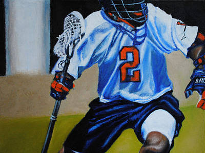 Lacrosse Painting - The Swashbuckler by Kenneth DelGatto