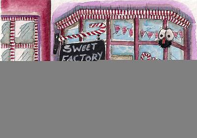 Candy Painting - The Sweet Factory by Lucia Stewart