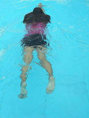 Hockney Painting - The Swimmer by Dietmar Scherf