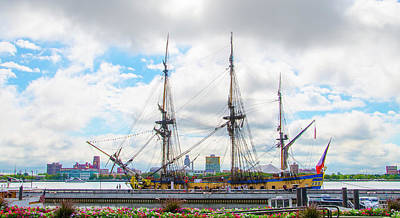 The Tall Ship Hermione - Philadelphia Pa Print by Bill Cannon