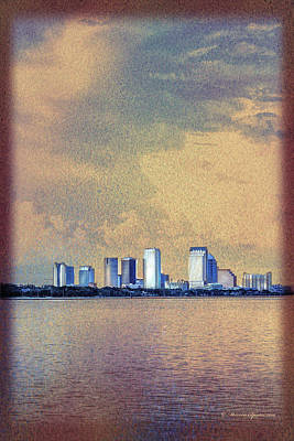 The Tampa Cityscape Print by Marvin Spates