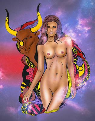 The Taurus Woman Print by Kenal Louis