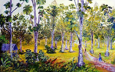 High Side Painting - The Teak Garden by Jason Sentuf