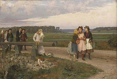 Painting - The Tell-tale by August Malmstrom