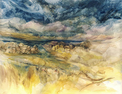 River Painting - The Tempest by Paul Workman
