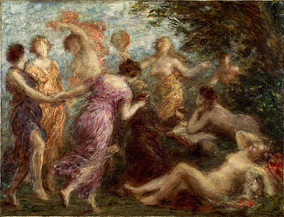 Henri Fantin-latour Painting - The Temptation Of St Anthony by Henri Fantin-Latour