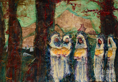 Plaster Of Paris Painting - The Ten Virgins by Debi Bond