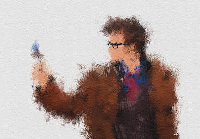 Super Hero Painting - The Tenth Doctor by Miranda Sether