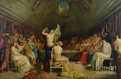 Enchantress Painting - The Tepidarium by Theodore Chasseriau