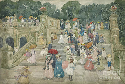 Ground Painting - The Terrace Bridge, Central Park by Maurice Brazil Prendergast