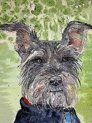 The Terrier Print by Shirley Sykes Bracken