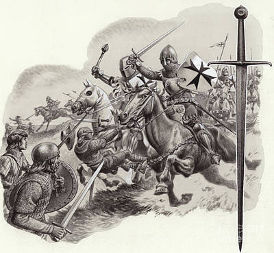 Knight Painting - The Teutonic Knights by Pat Nicolle