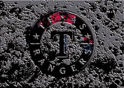 The Texas Rangers 1b Print by Brian Reaves
