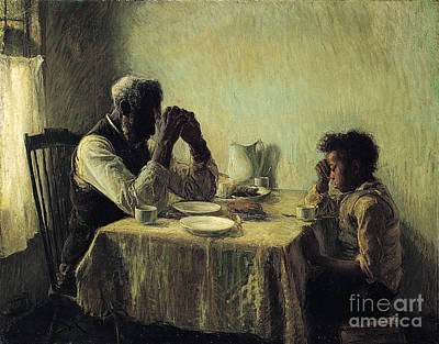 Meal Painting - The Thankful Poor by Celestial Images