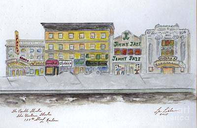 Apollo Theater Painting - Theatre's Of Harlem's 125th Street by AFineLyne