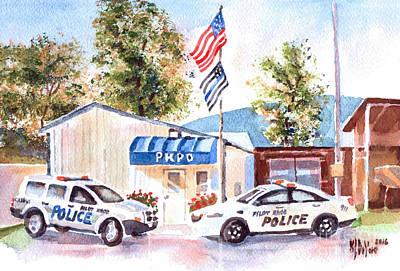 Enforcement Painting - The Thin Blue Line by Kip DeVore