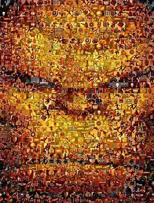 The Thing Mosaic Print by Paul Van Scott