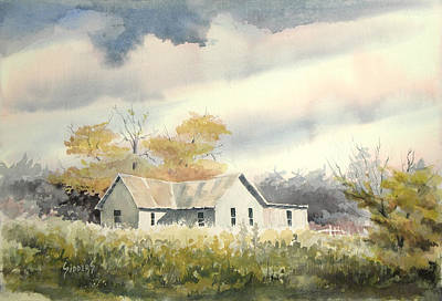 Abandoned Farm House Painting - The Thompson Place by Sam Sidders