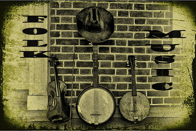 Mandolin Photograph - The Three Amigos - Folk Music by Bill Cannon