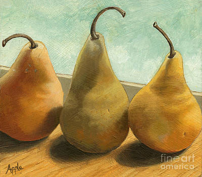 Realism Painting - The Three Graces - Painting by Linda Apple