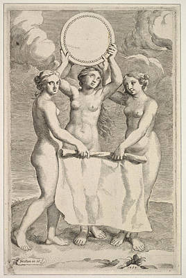 Drawing - The Three Graces by Claude Mellan