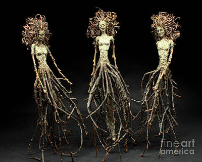 Tendrils Mixed Media - The Three Graces Dance by Adam Long