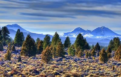 Oregon Photograph - The Three Sisters  by John Melton