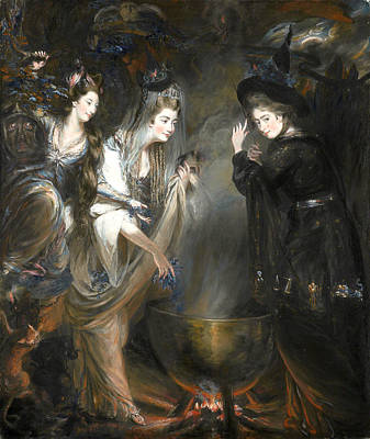 The Three Witches From Macbeth Print by Daniel Gardner