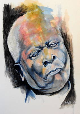 The Thrill Is Gone - Bb King Print by William Walts