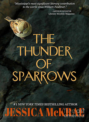 Book Jacket Design Photograph - The Thunder Of Sparrows Book Cover by Mike Nellums