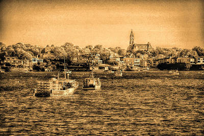 The Tide Flows Into The Harbor Print by Jeff Folger