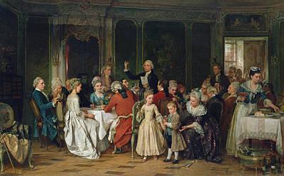 The Toast To The Bride, 1870  Print by Marc Louis Benjamin Vautier