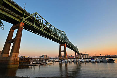 The Tobin Bridge Into The Sunset Print by Toby McGuire