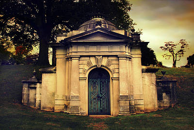 Haunting Digital Art - The Tomb Of Woodlawn by Jessica Jenney