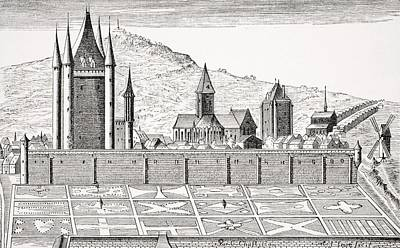 Medieval Temple Drawing - The Tower Of The Temple In Paris From by Vintage Design Pics