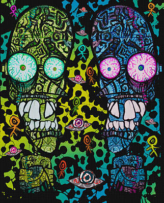 Toxic Twins Painting - The Toxic Twins by Josh Brown