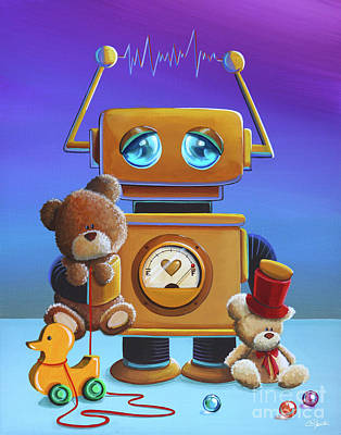 The Toy Robot Print by Cindy Thornton