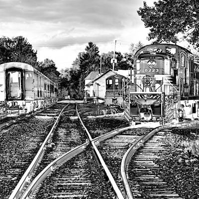 Train Tracks Photograph - The Train Station by David Patterson